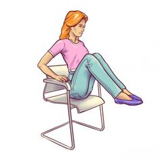 Amazing Chair Exercises For Flat Belly You Must Try Fitness Workout For Women, Fitness Workouts, Yoga Fitness, At Home Workouts, Fitness Tips, Chair Exercises, Belly Exercises, Senior Fitness, Abdominal Muscles