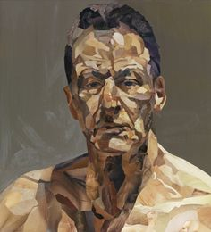 Jonathan Yeo — Reflection (Homage to Lucian Freud) - Dotti Ten Broek Lucian Freud Portraits, Lucian Freud Paintings, Jonathan Yeo, Collages, National Portrait Gallery, Sculpture, Famous Artists, British Artists, Contemporary Paintings