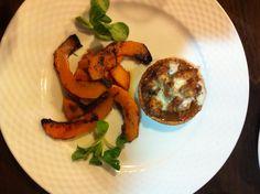 Nuestro plato.Cochifrito de cordero con calabaza de la Mingaus La Cabaña Peñiscola.RESERVAS 964_48 00 17