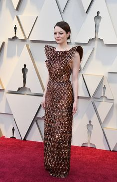 e941b82d013 Emma Stone in Louis Vuitton at the 2019 Oscars Nice Dresses