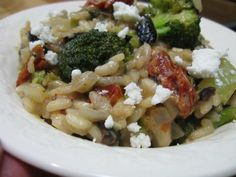 Burp!: Roasted Broccoli Risotto with Sundried Tomatoes and Olives