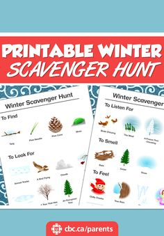 Kids love playing in the great outdoors and exploring it with all their senses. Here's a fun winter scavenger hunt for the whole family to enjoy!