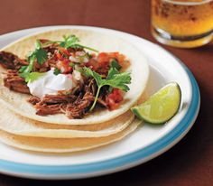 Slow cooker pulled pork tacos - this is one of my tried and true recipes.   Delicious!!! -RS