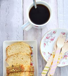 French Yogurt Cake with Caramom and Pistachios