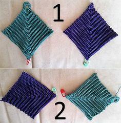 Vintage domino grydelapper Crochet Dishcloths, Knit Crochet, Crochet Bikini, Crochet Patterns, Granny Squares, Knitting, Vintage, Creative, Tricot