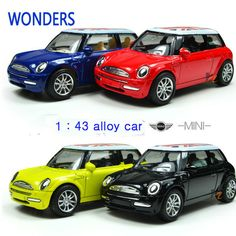 Mini Cooper Car Styling Alloy Kids Toys for Children Juguetes Brinquedos Para As Criancas Scale Models Pull Back toy #Affiliate