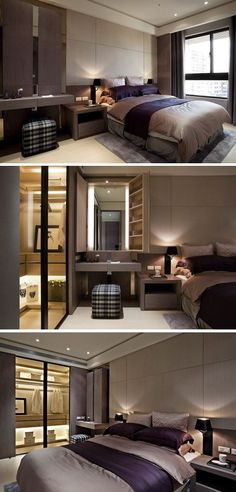 18 Cool Bedroom Decor in Your Home - Bedroom Design Luxury Bedroom Design, Home Interior Design, Modern Interior, Home Bedroom, Bedroom Decor, Master Bedrooms, Bedroom Ideas, Bedroom Designs, Bedroom Furniture