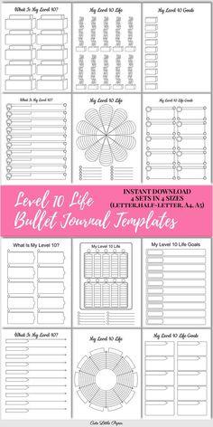 Bullet Journal Printables, Bullet Journal Notebook, Journal Template, Bullet Journal School, Bullet Journal Spread, Bullet Journal Ideas Pages, Planner Template, Bullet Journal Inspiration, Journal Pages