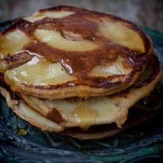 Gluten Free Apple Pancakes  4 eggs, 1tsp honey, 1tbsp coconut milk, 1tsp coconut oil, 3tbsp coconut flour, 1tsp baking soda, 1apple sliced thinly (to put on top of pancakes)