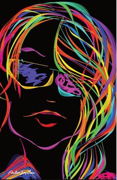 90s Vibe Black Light Poster by AmberJoyLiemArtShop on Etsy