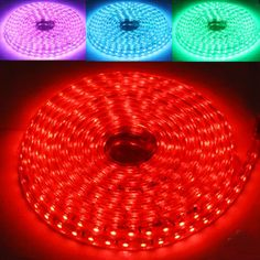 [$14.96] Casing Waterproof RGB LED 5050 SMD Rope Light for Christmas, 60 LED/M…