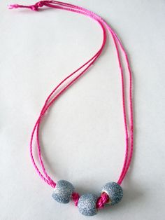DIY Glitter Bead Necklace