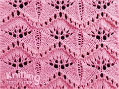 Gingko Leaf Lace Knitting Stitch