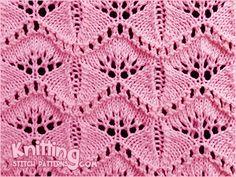 Gingko Leaf Lace Knitting Stitch