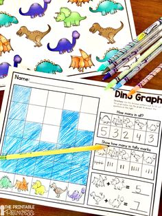 6-Pack of Dinosaur themed centers! Perfect for spring in K!