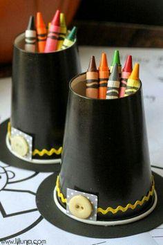Pilgrim hats/ crayon holders
