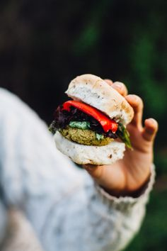 mini falafel burgers with cashew tzatziki that come together in under 30 minutes, (vegan and gluten-free) via will frolic for food