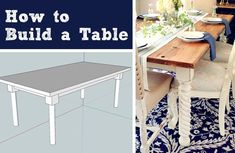 how to build a table buildit, dining room ideas, diy, how to, painted furniture, woodworking projects