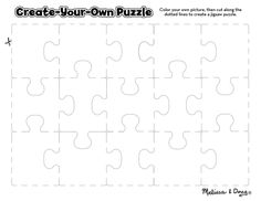 Free Printable: Create-Your-Own Puzzle printable