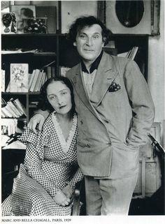 Marc and Bella Chagall, Paris, 1929 ۩۞۩۞۩۞۩۞۩۞۩۞۩۞۩۞۩ Gaby Féerie créateur de…
