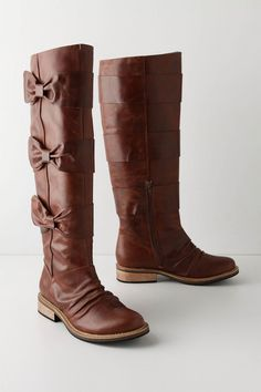 These Bowtied-Beauty Boots by Anthro might just beat out the Winding Ruffle Boots from before...