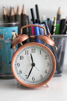 Liquid Copper Leaf Clock - The Crafted Life
