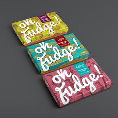 "Polubienia: 529, komentarze: 7 – The Dieline (@thedieline) na Instagramie: ""OHHHHHH FUDGGGGEEE!  #packaging #design #designer #dessert #fudge #sweettreats #yummy #crave…"""