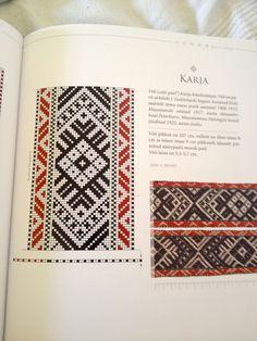 """""""Eesti Kirivööd"""" - Google Search Inkle Weaving Patterns, Loom Weaving, Loom Patterns, Embroidery Patterns, Hand Embroidery, Cross Stitch Patterns, Finger Weaving, Inkle Loom, Card Weaving"""