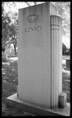 Art Deco Woodlawn Cemetery: Kenney Memorial, Detroit MI