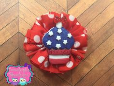A personal favorite from my Etsy shop https://www.etsy.com/listing/273066532/patriotic-hair-bow-ballerina-hair-bow