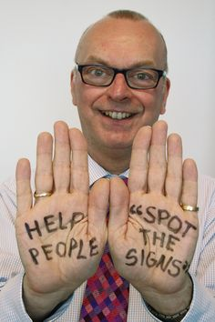 Paul Burnett, Independent Chair of Leicestershire and Rutland Safeguarding Children Board supporting CSE Awareness Day