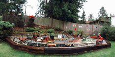 Garden Railroad, N Scale, Magical Creatures, Model Trains, Go Outside, Garden Train, Backyard, Transportation, Empire
