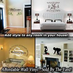 CHECK US OUT!!! Vinyl Crafts, Decor, Decorative Household Items, Vinyl Wall, Home Decor Decals, Home, Indoor, Home Decor, Room