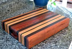 Items similar to Handmade Large Wood Cutting Board - The Retro Chopping Block - Black Walnut & Lacewood on Etsy Large Cutting Board, Wood Cutting Boards, Butcher Block Cutting Board, Wood Boards, Woodworking Saws, Carpentry, Raw Wood, Safe Food, Wood Crafts