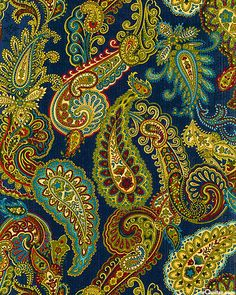 81 /Blue Paisley kind of day Motif Paisley, Paisley Art, Motif Floral, Paisley Design, Design Textile, Textile Patterns, Textile Art, Fabric Design, Print Patterns