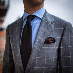 Windowpane is one of my favourite patterns #wiwt #lookbook #apparel #mnswr…