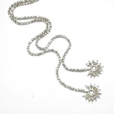 Silver Lariat Necklace in Tiny Faceted Bali Silver by katandbear, $82.00     don't squat with your spurs on