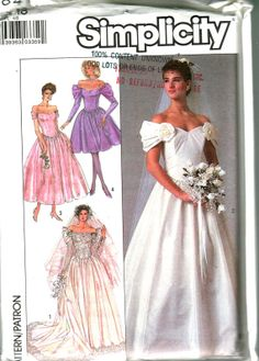 Vintage Simplicity 1980s Wedding Dress and by Knittingknitch, $6.99