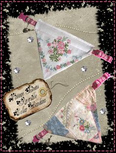 Free pattern for collar bandana, shown made from vintage linens. http://missdaisydesigns.com