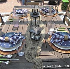 Summer is sailing away tablescape by coconutheadsurvivalguide.com #nautical…