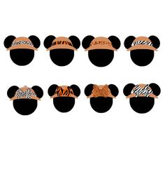 Safari Party Favors, Safari Party Decorations, Mickey Mouse Clipart, Minnie Mouse, Disney Tiger, Safari Cupcakes, Disney Scrapbook, Scrapbooking, Disney Classroom