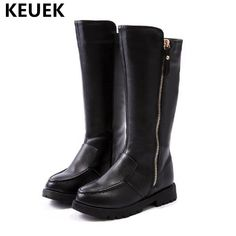 2018 New Winter Girls Boots Genuine Leather Knee-High Boots Princess  Children Cotton shoes Kids Snow Boots Baby Martin 02 Review 96f432881b44