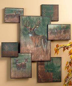 """Nature's Plan – Whitetail Deer Collage Wall Art 