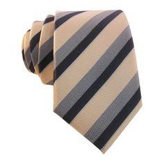 Pale Peach, Gray & Black Men's Stripe Skinny Tie w/ Pocket Square 5425 Light Peach, Light Orange, Novelty Ties, Boys Ties, Wedding Ties, Skinny Ties, Tie Colors, Pocket Square, Color Show