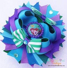 The Little Mermaid Boutique Hair Bow  www.twistandpoutbowtique.com