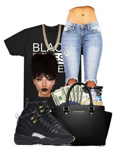 """""""black lives matter"""" by ballislife ❤ liked on Polyvore featuring MICHAEL Michael Kors, BaubleBar and NIKE"""