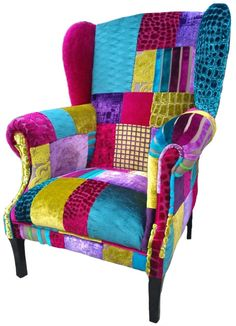 Vintage Patchwork Furniture | Traditional Chairs, Swallows And Patchwork