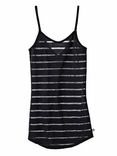 Victoria's Secret The Strappy Cami in Black Burnout Stripe