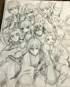 Zenitsu Form Kimetsu No Yaibu (Different expression) Anime Drawings Sketches, Anime Sketch, Cool Drawings, Manga Art, Manga Anime, Anime Art, Anime Character Drawing, Cute Anime Character, Demon Slayer