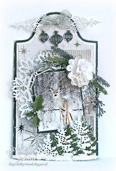 Dutch Doobadoo Label - Let it snow Christmas Tag, Christmas Crafts, Let It Snow, Let It Be, Elizabeth Craft, Box, Tags, Creative, Handmade